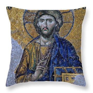 Christ Pantocrator -- Hagia Sophia Throw Pillow
