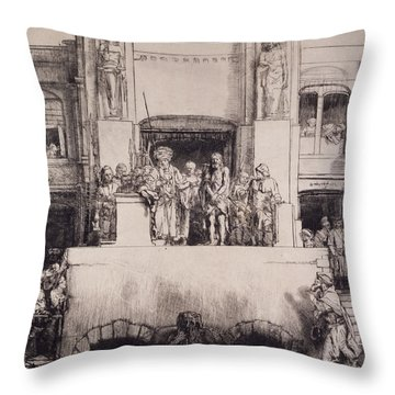 Christ Presented To The People, 1655 Throw Pillow by Rembrandt Harmensz. van Rijn