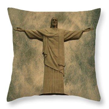 Christ The Redeemer Brazil Throw Pillow