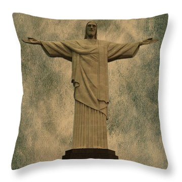 Christ The Redeemer Brazil Throw Pillow