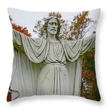 Christ Welcomes You Throw Pillow