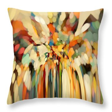 Christian Art- Angels Guiding Lot. Genesis 19 15 Throw Pillow by Mark Lawrence