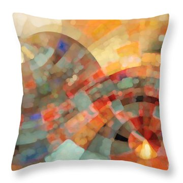 Christian Art- My Refuge Deuteronomy 33 27  Throw Pillow by Mark Lawrence