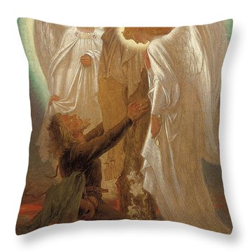 Christian At The Foot Of The Cross Throw Pillow