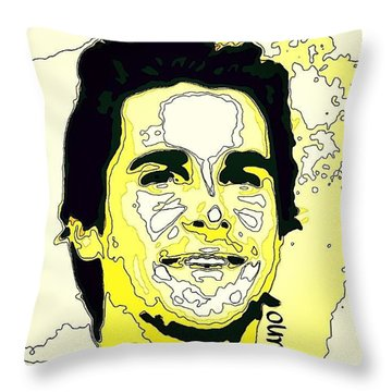 Christian Bale Throw Pillow by Nuno Marques