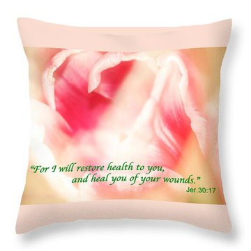 I Will Restore Health To You  Throw Pillow