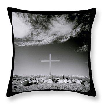 Christian Grave Throw Pillow by Shaun Higson