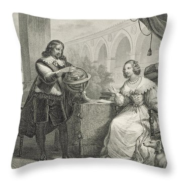 Christina Queen Of Sweden Throw Pillow