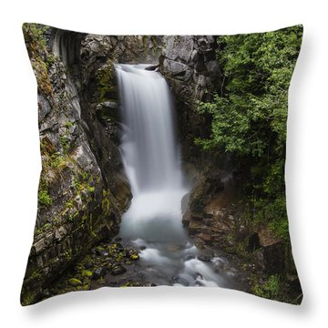 Christine Falls At Dusk Throw Pillow by Lee Kirchhevel