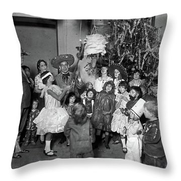 Christmas, 1925 Throw Pillow by Granger