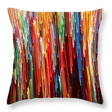 A Rainbow Melting  Throw Pillow