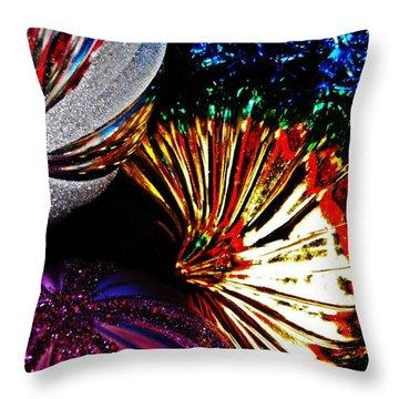 Christmas  Abstract 22 Throw Pillow by Sarah Loft