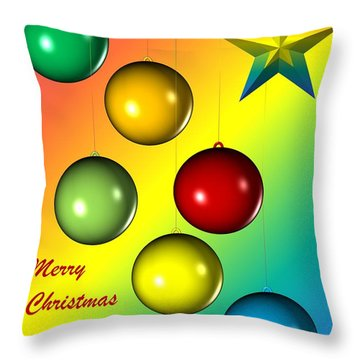Christmas And New Year Throw Pillow