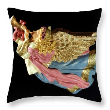 Christmas Angel Throw Pillow by Aimee L Maher Photography and Art Visit ALMGallerydotcom