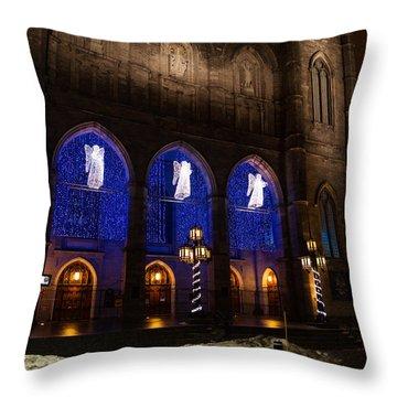 Christmas Angels - Notre-dame De Montreal Basilica Throw Pillow by Georgia Mizuleva