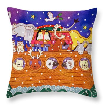 Christmas Ark Throw Pillow