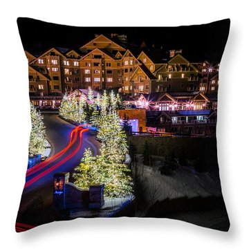 Christmas At The Montage Throw Pillow