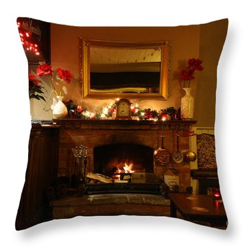 Christmas At The Pub Throw Pillow