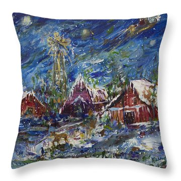 Christmas Throw Pillow by Avonelle Kelsey