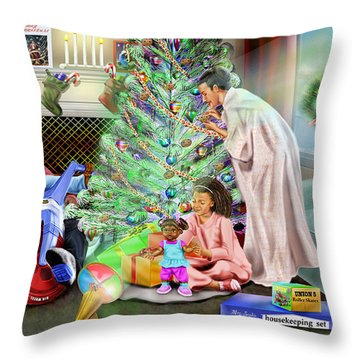 Christmas Back In Da Day Throw Pillow by Reggie Duffie