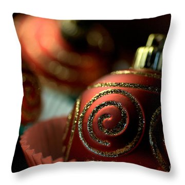 Christmas Bauble Cupcakes Throw Pillow