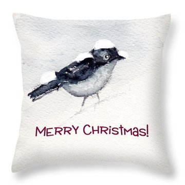 Throw Pillow featuring the painting Christmas Birds 02 by Anne Duke