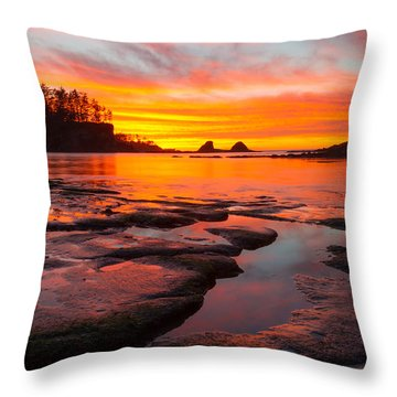 Christmas Blessings Throw Pillow by Patricia Davidson