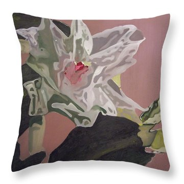 Christmas Bloom Throw Pillow