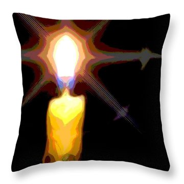 Throw Pillow featuring the photograph Christmas Candle by Ludwig Keck