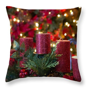 Throw Pillow featuring the photograph Christmas Candles by Patricia Babbitt