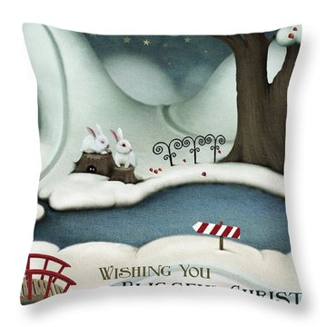Blissful Christmas Throw Pillow