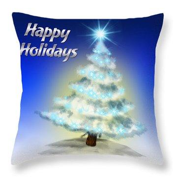 Christmas Card 4 Throw Pillow by Mark Ashkenazi