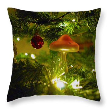 Throw Pillow featuring the photograph Christmas Card by Cassandra Buckley