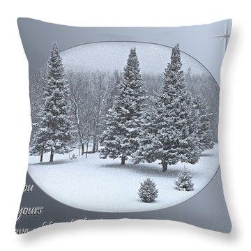 Christmas Card IIi Throw Pillow by Judy  Johnson
