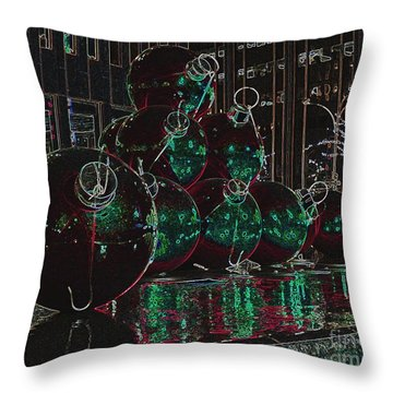Christmas Card Throw Pillow by Laurinda Bowling