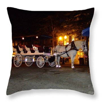 Christmas Carriage Throw Pillow by Bob Sample