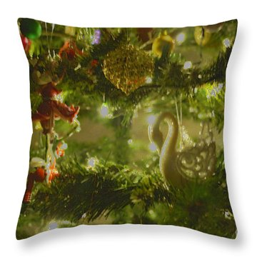 Throw Pillow featuring the photograph Christmas Cheer by Cassandra Buckley