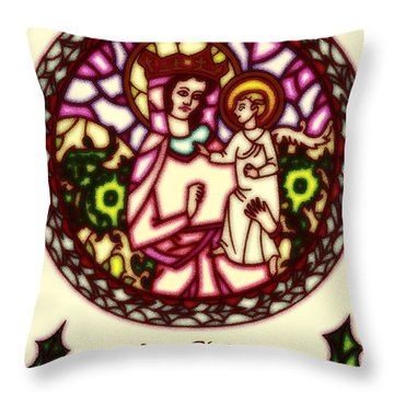 Throw Pillow featuring the digital art Christmas Cheer by Mario Carini