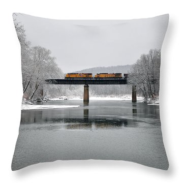 Christmas Coal Throw Pillow