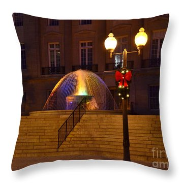 Throw Pillow featuring the photograph Christmas Colors by Bob Sample