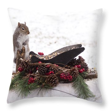 Christmas Critters Throw Pillow