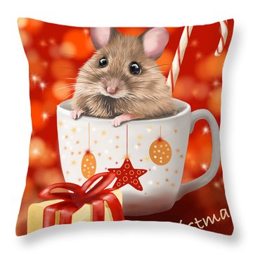 Christmas Cup Throw Pillow