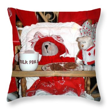 Christmas Delights Throw Pillow by Kathleen Struckle