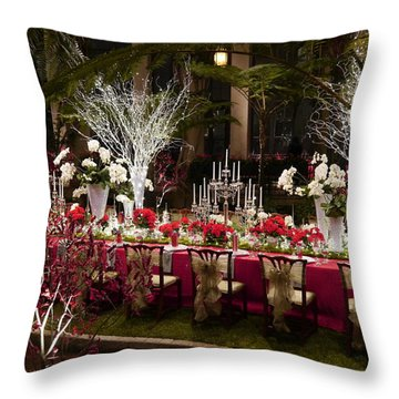 Christmas Dinner Throw Pillow by Richard Reeve