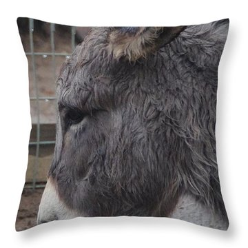 Christmas Donkey Throw Pillow