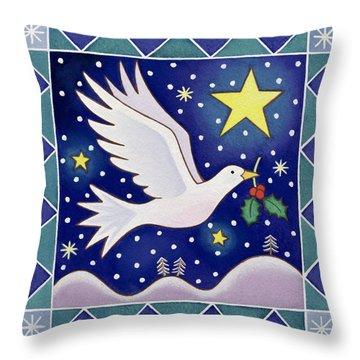 Christmas Dove  Throw Pillow