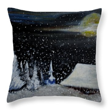 Christmas Eve Throw Pillow by Dick Bourgault