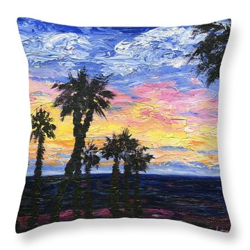 Christmas Eve In Redondo Beach Throw Pillow by Jamie Frier