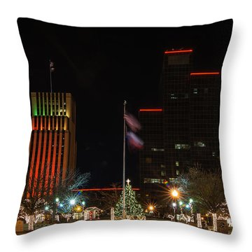 Christmas Eve In Tyler Texas Throw Pillow