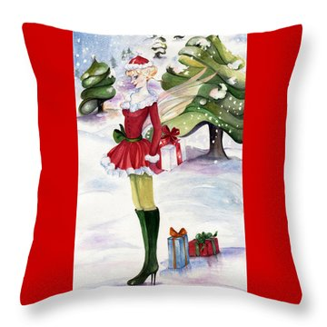 Christmas Fantasy  Throw Pillow